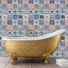 mosaic tile patterns. Contemporary Tile Mosaic Tile Patterns Autocollant Mural In