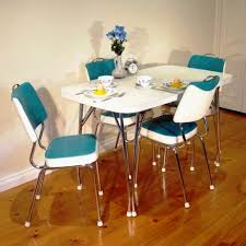 kitchen fascinating 1960s retro table and chair chrome