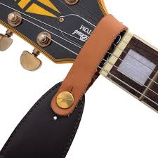 2019 whole guitar straps faux leather strap hook on for acoustic folk classic guitar durable red guitars basses parts acces from haitan