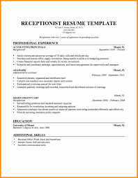 Resume Templates For Front Desk Receptionist Unique Resume Samples