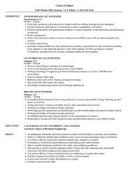Media Broadcasting Resume Broadcast Engineer Resume Samples Velvet Jobs 5