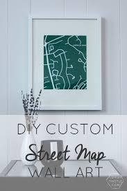 diy custom street map wall art step by step