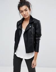 noisy may leather look jacket v17i9 for women