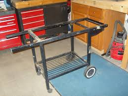 reusing a weber frame as a grill cart