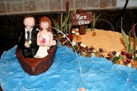 Cc28a Hooked On Love Fishing Groom Cake Topper