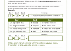 nd grade writing worksheets printables com creative writing exercise