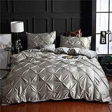 grey pintuck bedding silk like satin