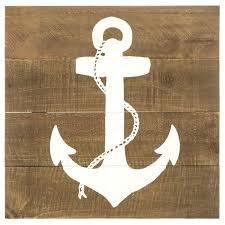 nautical decor rustic wooden anchor wall decor beach house decor art ocean sea large wooden anchor