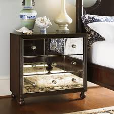 Decorating Small Nightstand Mirrored Nightstand