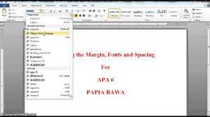 Apa Style Spacing Apa 6 Setting Margins Fonts Spacing Youtube