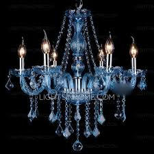 blue chandelier noble 6 light blue chandelier candle type