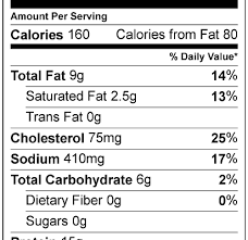 32 fried en nutrition label