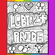 Pride Coloring Pages Lgbtq Pride Zen Doodle Coloring Pages By Ms Artastic Tpt