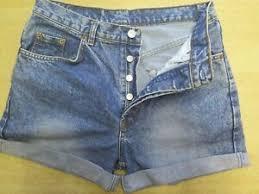 Levi High Waisted Shorts Size Chart