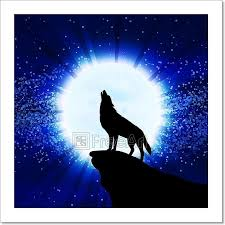 wolf howling at the moon. Simple Wolf Wolf Howling At The Moon Vector Illustration On Howling At The Moon H
