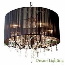 dream lighting candle crystal chandelier pendant lights black