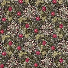 morris co morris seaweed ebony poppy curtain fabric 224471