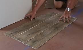 vinyl plank flooring installation first row