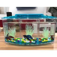 betta fish tanks.  Tanks Acrylic Aquarium Betta Fish Bowl Led Light Incubator Hatchery  Breeding Box 3 Splits Tank Turtle Reptile Housein Aquariums U0026 Tanks From Home  And A