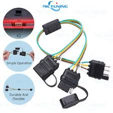 trailer splitter 2 way 4 pin y split wiring harness adapter for 4 Pin Trailer Wiring Harness image is loading trailer splitter 2 way 4 pin y split 4 pin trailer wiring harness diagram