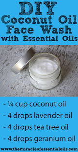 diy coconut oil face wash with essential oils