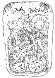 Free Happy Halloween Coloring Pages For Adults Coloringstar