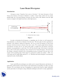 Wavelength Of Laser Light Formula Laser Beam Divergence Physics Report Docsity