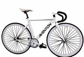 Aventon Mataro Fixed Gear Track Bike In White Bikesxpress
