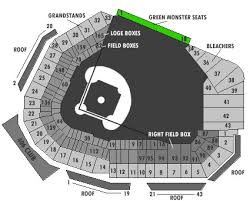 Fenway Park Concert Seating Chart With Seat Numbers Green Monster Seats Boston Red Sox Seats Green Monster