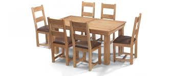 oak dining table and chairs. Constance Oak 160 Cm Dining Table And 6 Chairs
