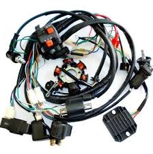 amazon com jcmoto wiring harness loom kit cdi rectifier key Wiring Harness For 49cc Gy6 Scooter amazon com jcmoto wiring harness loom kit cdi rectifier key ignition coil magneto stator for gy6 125cc 150cc 250cc atv quad scooter automotive GY6 Wiring Harness Diagram