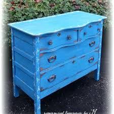 distressed antique furniture. Shop Vintage Blue Dresser On Distressed Antique Wavy Shabby Chic Country Cottage French Furniture ,