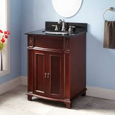 Curved Bathroom Vanity Cabinet 24 Kinloch Vanity For Undermount Sink Mahogany Bathroom