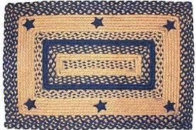 texas star rug star area rugs barn star area rug navy blue braided rectangle primitive rustic