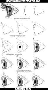 How To Draw Eyes Step By Step How To Draw Realistic Eyes From The Side Profile View Step