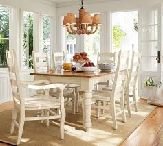 Tables & Chairs Sumner Pottery Barn Extending Kitchen Table Thick Planked  Wood Top White Substantial Legs With Farmhouse Style Turnings Kiln Dried  Solid ...