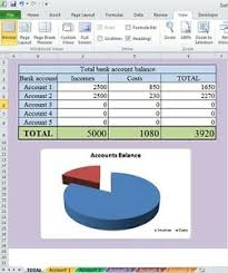 Details About Transaction Summary Of Bank Accounts With Excel Microsoft Windows Template