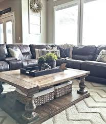 leather sofa living room ideas sofas with entrancing design d home decor brown couch throw pillows light grey