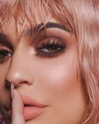 kylie wearing kylie cosmetics valentine s collection kardashian jennerkendall