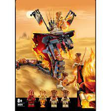 Đồ chơi lắp ráp Lari 11329 Ninjago xếp hình Non lego rắn lửa sa mạc khổng  lồ Ninja Kai huyền thoại season phần 11 chính hãng 290,000đ