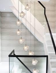 Treppenhaus Kronleuchter Glaskugeln Pendelleuchte Bar