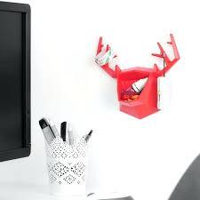 wall mounted decor red artist wall mounted art decor buck beer shape storage hook hanger case