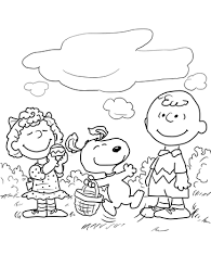 Small Picture Peanuts Easter coloring page Free Printable Coloring Pages