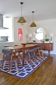 mid century modern dining room pinterest. geometric area rugs: make a statement without saying word. mid century dining tablerug modern room pinterest e