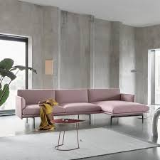 muuto outline 3 seater sofa with chaise longue