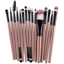 15 pcs best professional makeup brush set for eye shadow eyebrow lip