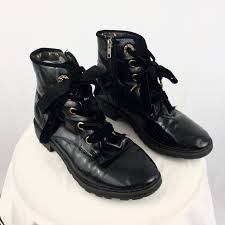 julia866 3 days ago winchester united states black patent leather lace up combat boots