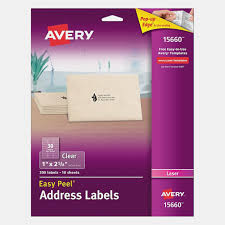 Avery Clear Labels For Wedding Invitations Clear Address Labels