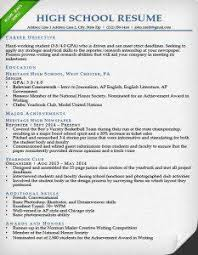 Objective For High School Resumes High School Resume Sample High School Resume High School