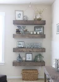 diy floating shelves for storage diy living room decor ideas budget friendly home decor